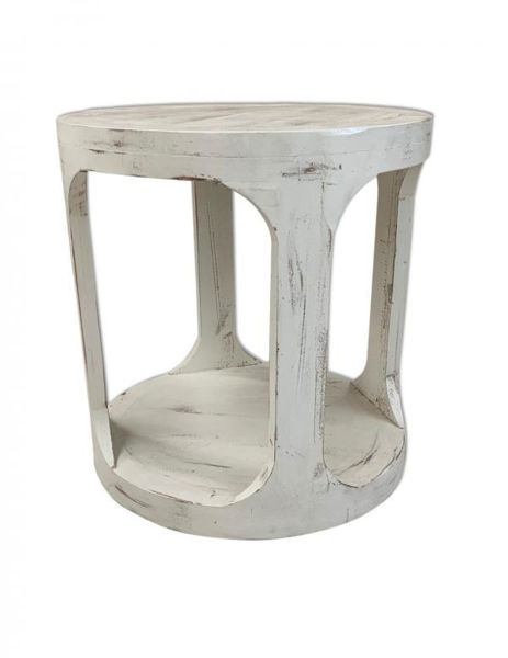 Picture of HILLSBORO END TABLE WHITE