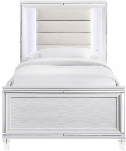 Picture of TWENTY NINE TWIN UPHOLSTERED PANEL BED