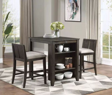 Picture of HESTON COUNTER TABLE W/STOOLS CHERRY