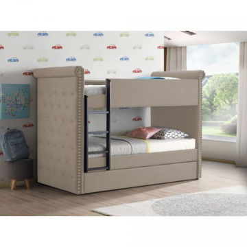 Picture of ROMANA II TWIN BUNK BED WITH TRUNDLE BEIGE
