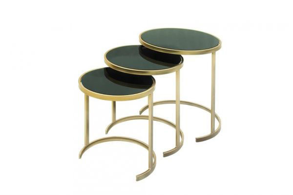 Picture of METAL & GLASS NESTING TABLES