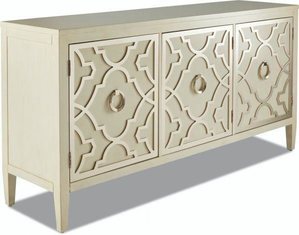 Picture of WHITE/SILVER ACCENT CONSOLE