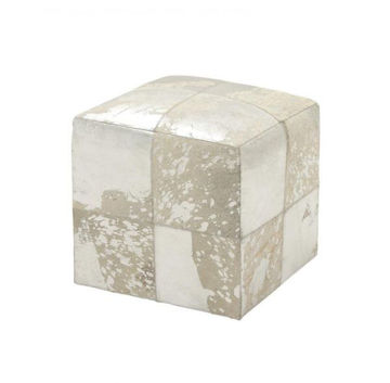 Picture of SQUARE LEATHER HIDE OTTOMAN