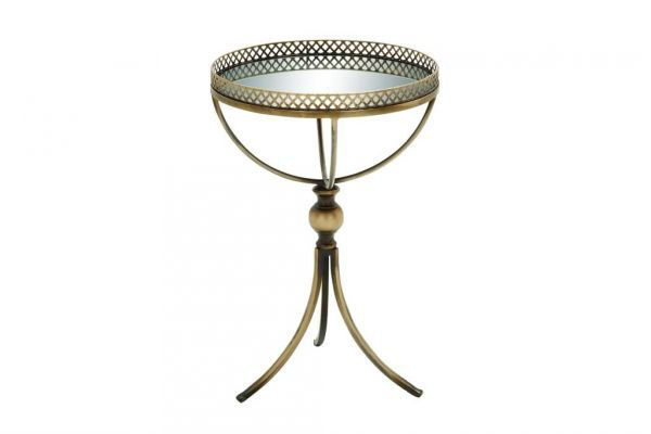 Picture of MIRROR AND BRASS TRAY TABLE