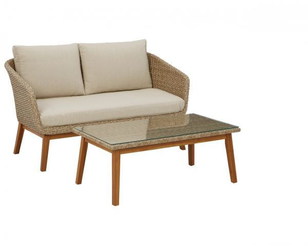 Picture of CRYSTAL CAVE LOVESEAT AND TABLE
