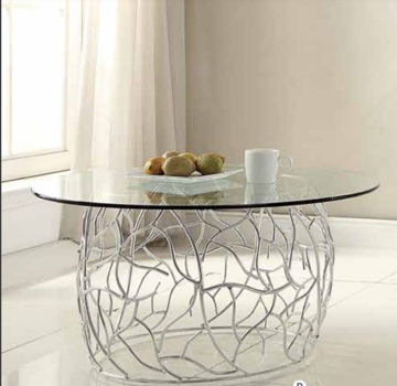 Picture of Alloy Glass Top Cocktail Table