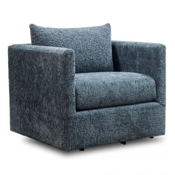 Picture of Charcoal Plush Swivel Chair
