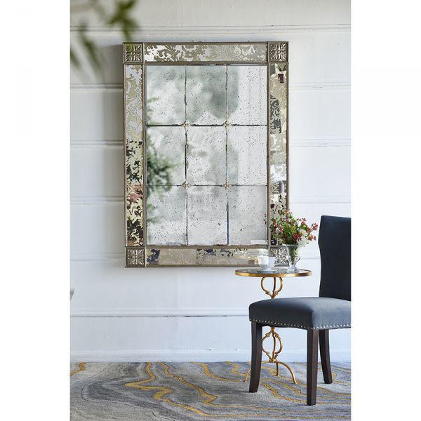 Picture of Antique Leaf Medallion Mirror